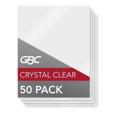 GBC HeatSeal Crystal Clear Thermal Laminating Pouches, Legal Size, 10 mil, 50 per Box