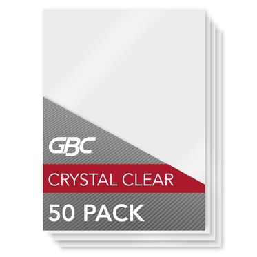 GBC HeatSeal Crystal Clear Thermal Laminating Pouches, Menu Size, 10 mil, 50 per Box