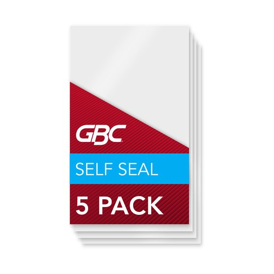 GBC Self Sealing Laminating Pouches, Luggage Tag Size, 8 Mil, 5 Pack (3745165)