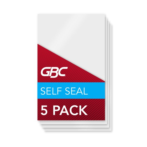 GBC Self Sealing Laminating Pouches, Repositionable, Photo Size, 8 mil, 5 Pack