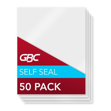 GBC Self Sealing Laminating Pouches, Letter Size, 3 mil, 50 Pack