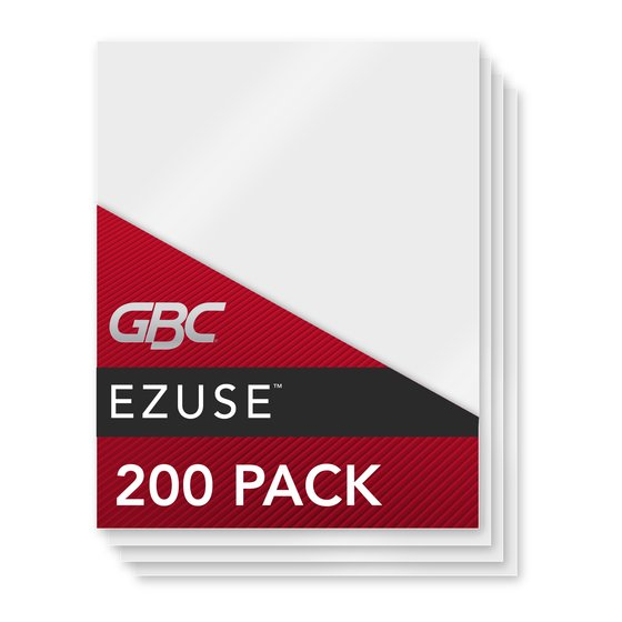 GBC EZUse Thermal Laminating Pouches, Letter Size, 3 mil, 200 Pack