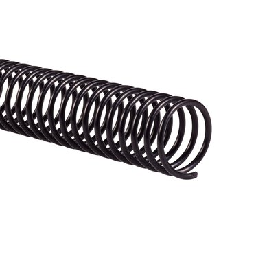 Color Coil™ Binding Spine, Black, 25mm, 200 sheet capacity, 4:1 pitch, 100 pcs