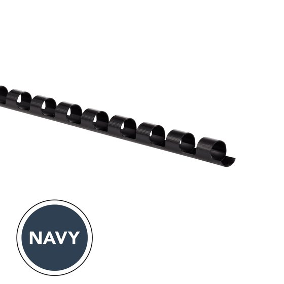 "GBC CombBind Binding Spines, 1/4"", Navy, 100 Pack"