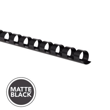 "Matte Black, 3/8"", 55 sheet capacity, 100 pcs"