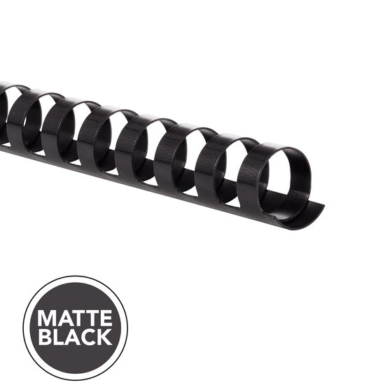 "GBC CombBind Binding Spines, 3/4"", Matte Black, 100 Pack"