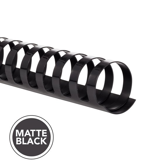 "GBC CombBind Binding Spines, 1"", Matte Black, 100 Pack"