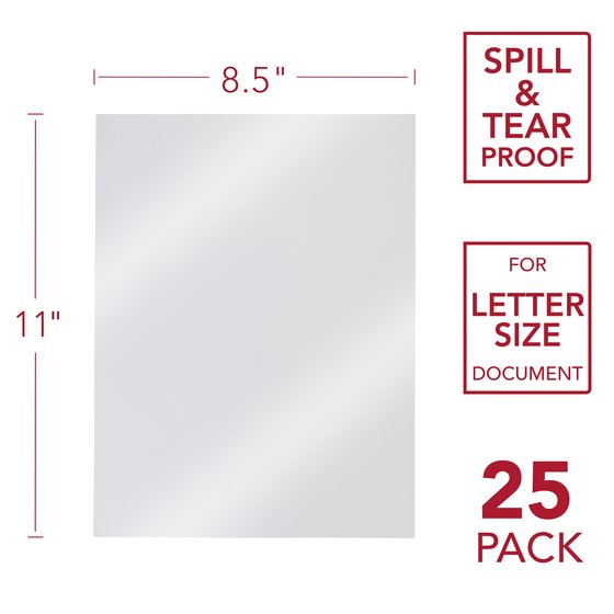 GBC Design View Poly Presentation Covers, Square Corners, Frost, 25 Pack
