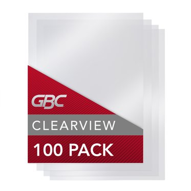 "GBC Binding Presentation Covers, Clear View, 8 3/4"" x 11 1/4"", Frost, 100 Pack"