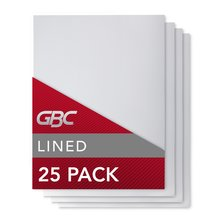GBC Designer Premium Plus View Presentation Binding Covers, Rounded Corners, Lined Pattern, 25 Pack