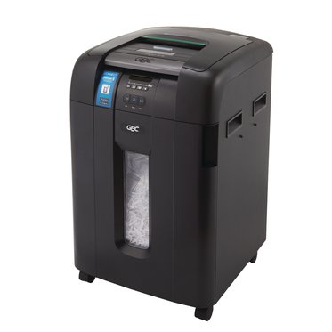 Swingline GBC Stack-and-Shred 600X Auto Feed Shredder, SmarTech Enabled, Super Cross-Cut, 600 Sheets, 10-20 Users