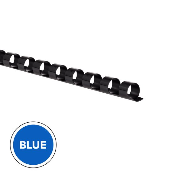 "GBC CombBind Binding Spines, 5/16"", Blue, 100 Pack"