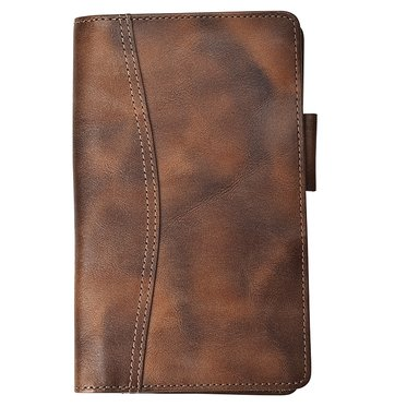 Pocket size - Outback Leather Wallet - Open