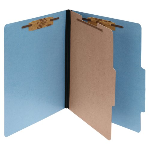ACCO® ColorLife® PRESSTEX® 4, 6-Part Classification Folders with Fasteners, 10 Pack
