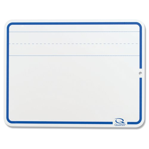 "Quartet® Education Lap Board, 9"" x 12"", Lined Dry-Erase Surface, Marker Included"