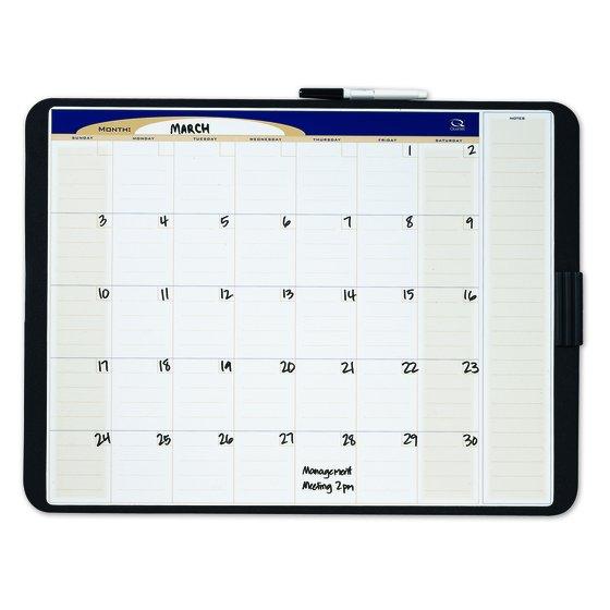 Quartet® Designer™ Tack & Write® Monthly Calendars