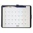 "Quartet® Designer™ Tack & Write® Monthly Calendar, 17"" x 11"", 1-month Grid"