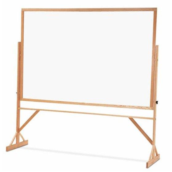 Quartet® Reversible Easel - Whiteboard/Bulletin Board, 4' x 6', Hardwood Frame
