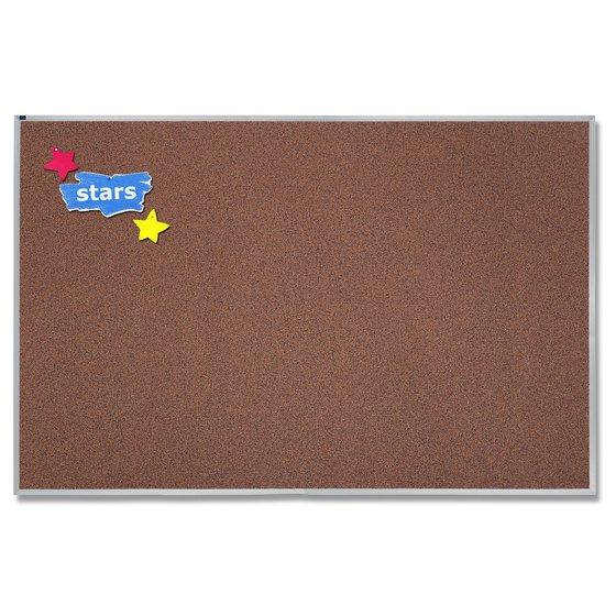 Quartet® Premium Color Cork Bulletin Boards, Aluminum Frame
