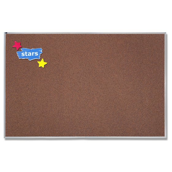Quartet® Premium Color Cork Bulletin Boards, Aluminum Frame