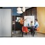 Motion Room Divider, 3' x 6', DuraMax Porcelain Whiteboard Surface