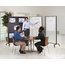 Motion Room Divider, 4' x 6', DuraMax Porcelain Whiteboard Surface