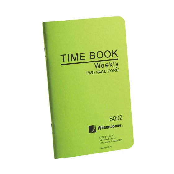 Wilson Jones® Foreman's Time Books