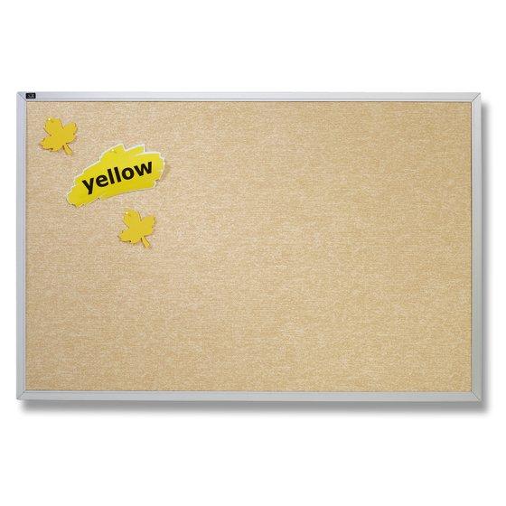Quartet® Vinyl Tack Bulletin Boards, Antique White with Aluminum Frame