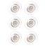 Quartet® Glass Board Magnets, Large, 6 Pack