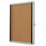 "Quartet® Enclosed Cork Bulletin Board for Indoor Use, 21"" x 27"" or 4 Sheets, 1 Swing Door, Aluminum Frame"