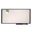 "Quartet® Prestige® Total Erase® Cubicle Whiteboard, 36"" x 18"", Graphite Frame, Writing Grid"