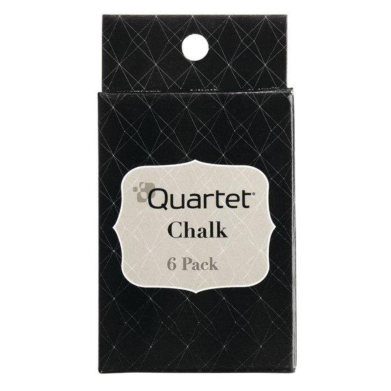 Quartet® Chalk Sticks, White, 6 Pack