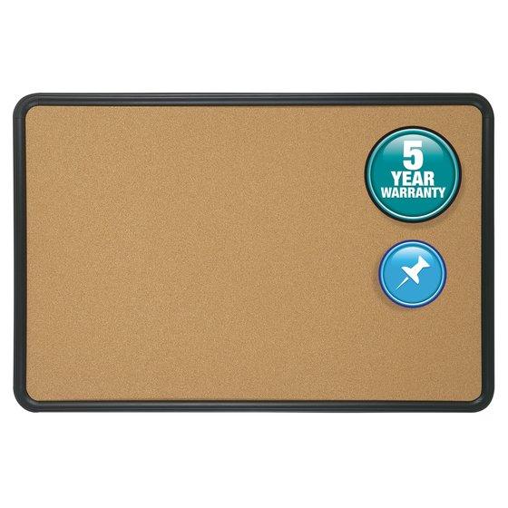 Quartet® Contour® Cork Bulletin Boards, Black Frame