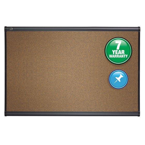 Quartet® Prestige® Colored Cork Bulletin Boards, Graphite Finish Frame