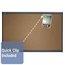 Prestige Colored Cork Bulletin Board, 3' x 2', Graphite Finish Frame