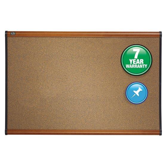 Quartet® Prestige® Colored Cork Bulletin Boards, Light Cherry Finish Frame