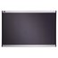 Prestige Diamond Mesh Fabric Bulletin Board, 3' x 2', Gray with Aluminum Frame