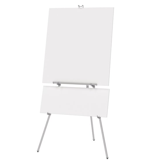 "Quartet® Aluminum Heavy Duty Display Easel, 66"" Max. Height, Supports 45 Lbs., Silver"