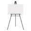 """Quartet® Aluminum Heavy Duty Display Easel, 66"""" Max. Height, Supports 45 Lbs., Black"""
