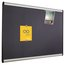 Prestige Plus Magnetic Fabric Bulletin Board, 3' x 2', Aluminum Frame