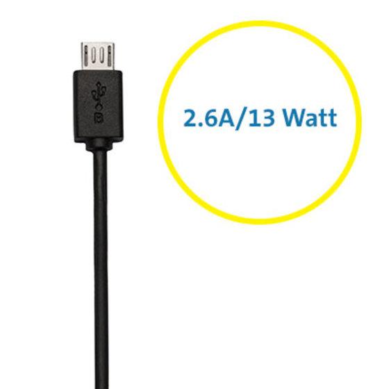 2.6A/13 Watt Output