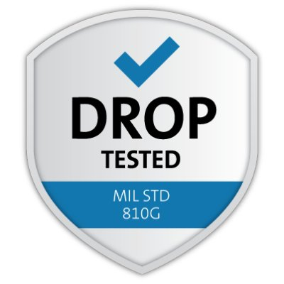 Drop Test Certified (MIL-STD 810G)