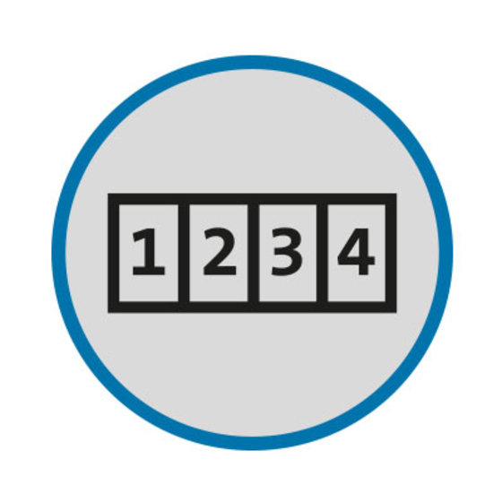 Keyless, Resettable 4-Number Combination