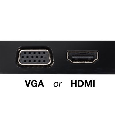 4K HDMI or HD VGA Video Output*
