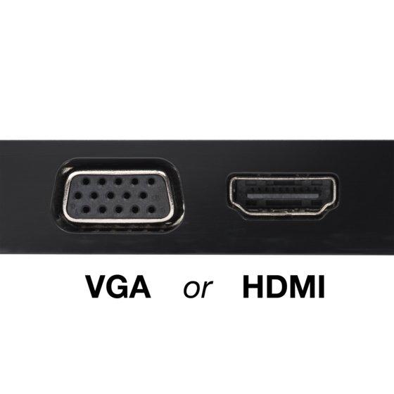 4K HDMI or HD VGA Video Output*