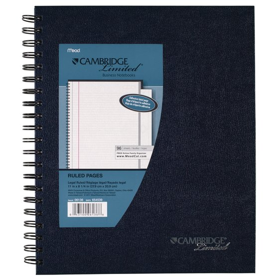 Cambridge Legal Ruled Business Notebook