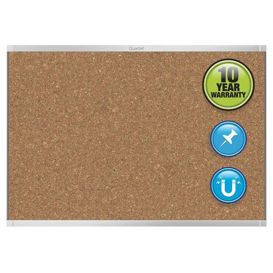 Quartet® Prestige® 2 Magnetic Cork Bulletin Boards, Silver Aluminum Frame