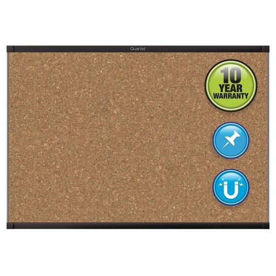 Quartet® Prestige® 2 Magnetic Cork Bulletin Boards, Black Aluminum Frame