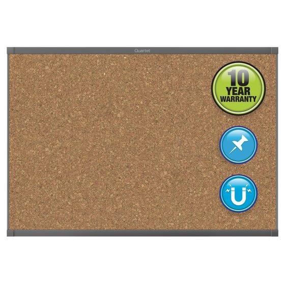 Quartet® Prestige® 2 Magnetic Cork Bulletin Boards, Graphite Finish Frame