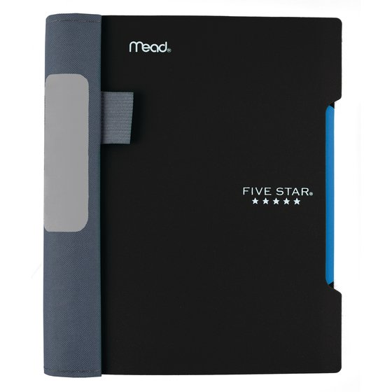 "Five Star Advance  Wirebound Notebook, 1 Subject, 7"" x 5"", College Ruled, Black"